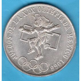 Moneda Antigua Plata Veinticinco Pesos Olimpica 1968 P144