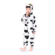 Pijama Mameluco Kigurumi Disfraz Cosplay Vaca Cow Niños Niña
