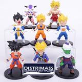 8 Munecos De Colleccion Dragon Ball Z 100% Originales