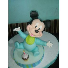 Adorno Porcelana Fria Mickey Bebe, Mas Nombre Zona Sur !!