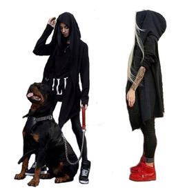 Buzo Extendido Swag Unisex Hombre Mujer Tapado Dark A01