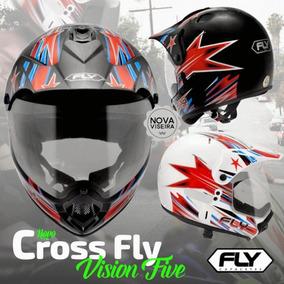 Capacete Fly Cross Frete Grátistrilha Coss Enduro Motocross