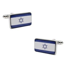 361de3d420843 Mancuernillas Figura De Bandera De Israel Judio F-719