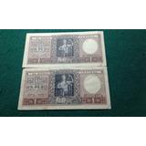 Lote De 2 Billetes De 1 Peso Ley 12962 Y Ley 13571-escasos