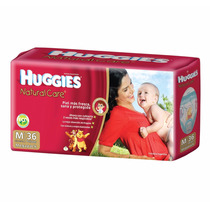 Pañales Huggies Natural Care (rojos) Mediano X 36 $ 240