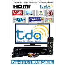 Conversor Decodificador Sintonizador Tv -tda-tdt-hd-hdmi-usb