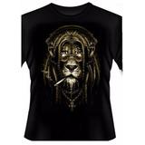 Camiseta Leão Rasta Reggae Bob Marley Jah Swag - Mod.511