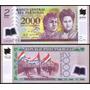 Vendo Billete De 2.000 Guaranies Plastificado Impecables
