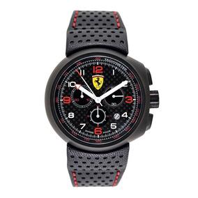 Relógio Ferrari Pulseira De Couro Cronógrafo Scuderia Suiço