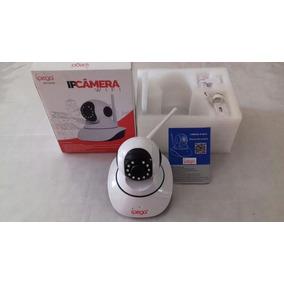 Câmera De Segurança Ip Wifi Sem Fio + Sdcard 4gb, App Camhi