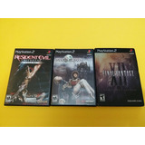 Resident Evil + Shadow Hearts + Final F. X2 Ps2
