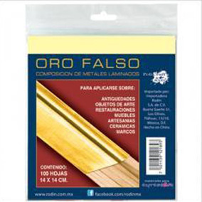 Oro Falso Chino 14 X 14 Cms, Con 100 Hojas