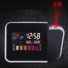 Reloj Despertador Proyeccion Imagen Hora Baterias Y Envio