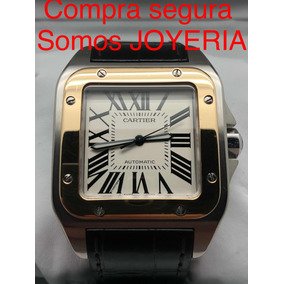 Cartier Santos 100 Xl Oro Y Acero Con Caja Manual Libro Cd