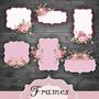 Kit Imprimible Frames Etiquetas Labels Banderines Diamante