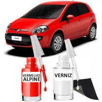 Tinta Tira Risco Automotivo Fiat Punto Cor Vermelho Alpine**