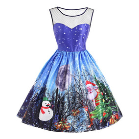 e7a3d7843 Vestido De Santa Mujer - Vestidos Azul en Mercado Libre México