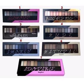 Paleta Sombra 12cores+1primer Ruby Rose Maquiagens 3unidades