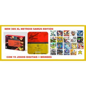New 3ds Xl Metroid Samus Edition 19 Jogos.+sd 32gb+brindes,