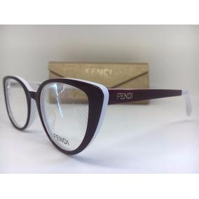Armação Oculos De Grau Origina Feminino Fendi Gatinho