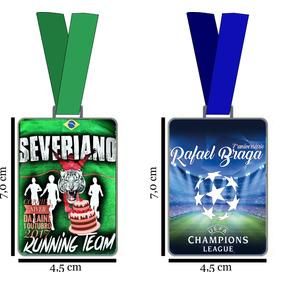 Medalha Esportiva Personalizada Metal Resinada Gigante 7x4,5