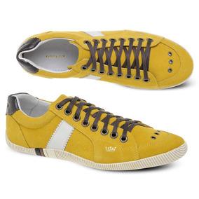 Tênis Sapatênis Osklen Masculino Riva Couro Camurça Amarelo