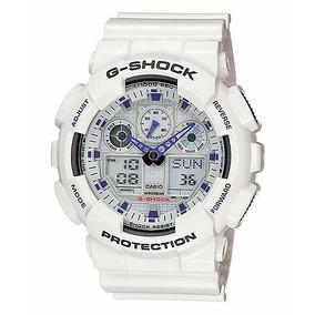 Relógio Casio Masculino G-shock Ga-100a-7adr Branco Oferta