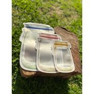 Bolsas Zipper Hermetica Reutilizable Transparente Frasco X5