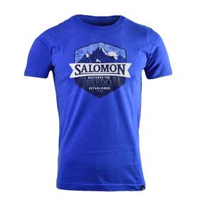 Remera Salomon Ultimate Ss Tee Hombre Azul