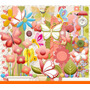 Kit Imprimible Pack Fondos Flores Y Mariposas 35 Clipart