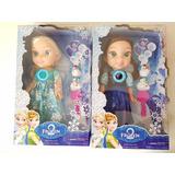 Boneca Elsa Ou Ana Frozen Som Luz 32cm Olaf Acessórios Cada