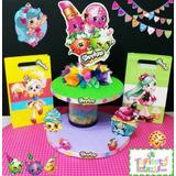 Chupetero, Centro De Mesa Shopkins Fiesta Infantil Shopkins