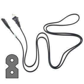 Polarizado Pared Cable 6ft 2 Puntas Figura 8 Para Tv
