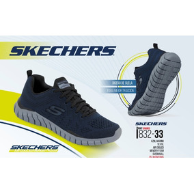 Tenis Skechers P/hombre Azul Marino 832-33 Memory Foam