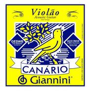 Encordoamento Violão Aço Inox Jogo C/6 Giannini Canario Novo