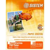 Papel Cartão Full Color - A4 - 10 Folhas - 180g/m²