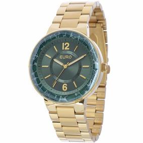 Relógio Euro Feminino Dourado Eu2035xzi/4v - ( Nfe )