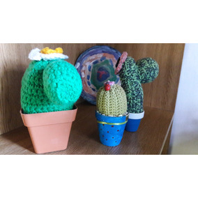 Cactustejidos Crochet X3 Artesanales 20,18.y14cm