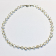 Cadena Plata 925 Perlas Cultivadas De Rio Capl173 Garantía