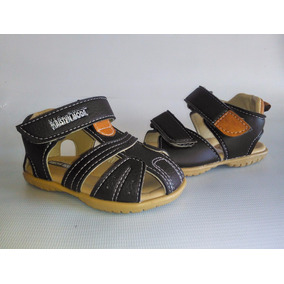 Sandalias O Calzado Para Niños Kristyn Moda (marrón Y Azúl)