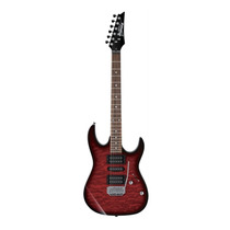 Guitarra Ibanez Gio Grx 70qa Trb Red - Poplar E Maple C/nota