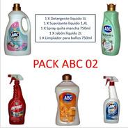 Pack Lavado Detergente Liquido Abc+ Suavizante+ Quitamancha