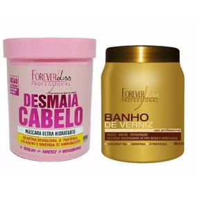Desmaia Cabeloforeverliss 950g + Banho Verniz 1kg
