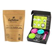 Capsulas Dolce Recargables Caffettino X4 + 1/4 Kg De Café