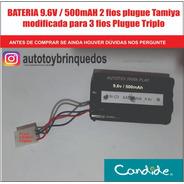 Bateria 9.6v 500mah Tamiya 2 Fios Modificada Para 3 Fios