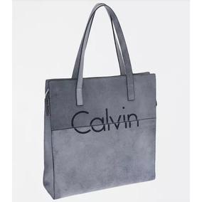 Bolsa Feminina Shopping Calvin Klein Acompanha Carteira Cinz