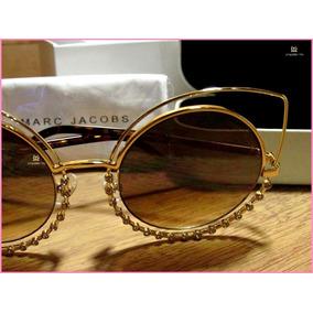 ac816ec578a2e Óculos De Sol Marc Jacobs Fino Acabamento Em Pedraria °4273°