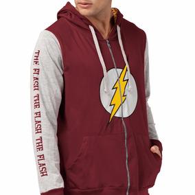 Blusa Jaqueta Em Moletom The Flash Logo Dc Comics Oficial