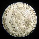Cuauhtémoc 50 Centavos 1965 Al 1979 P Arras Bolo