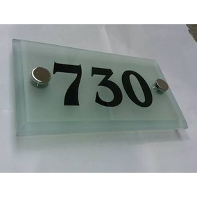 Número Residencial Em Vidro 10mm Bisote